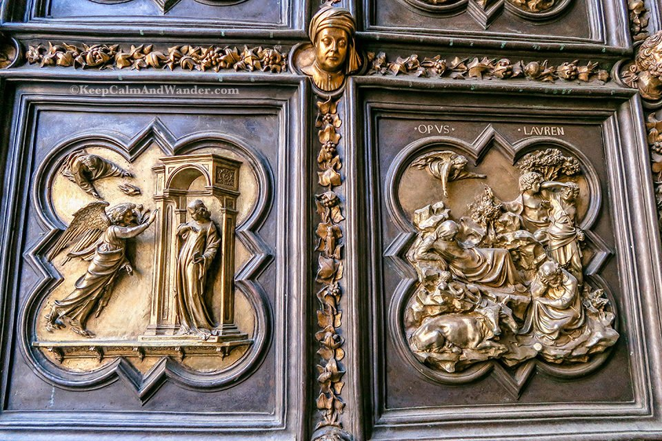 The Gates to Paradise at Florence Baptistry (Italy).