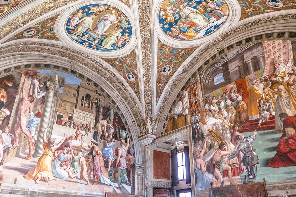 Inside the Spectacular Vatican Museum (Rome, Italy).