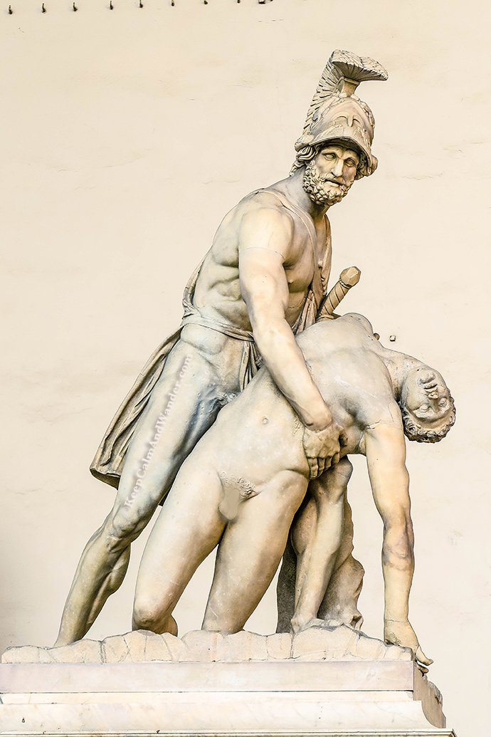 Italy The Amazing Statues Outside Palazzo Vecchio in Florence (Menalaus Supporting the Body of Patroclus).