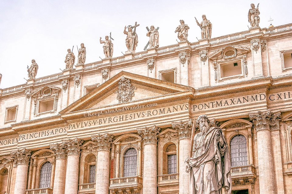 St Peter's Square and St Peter's Basilica - The World's Largest Church (Italy).