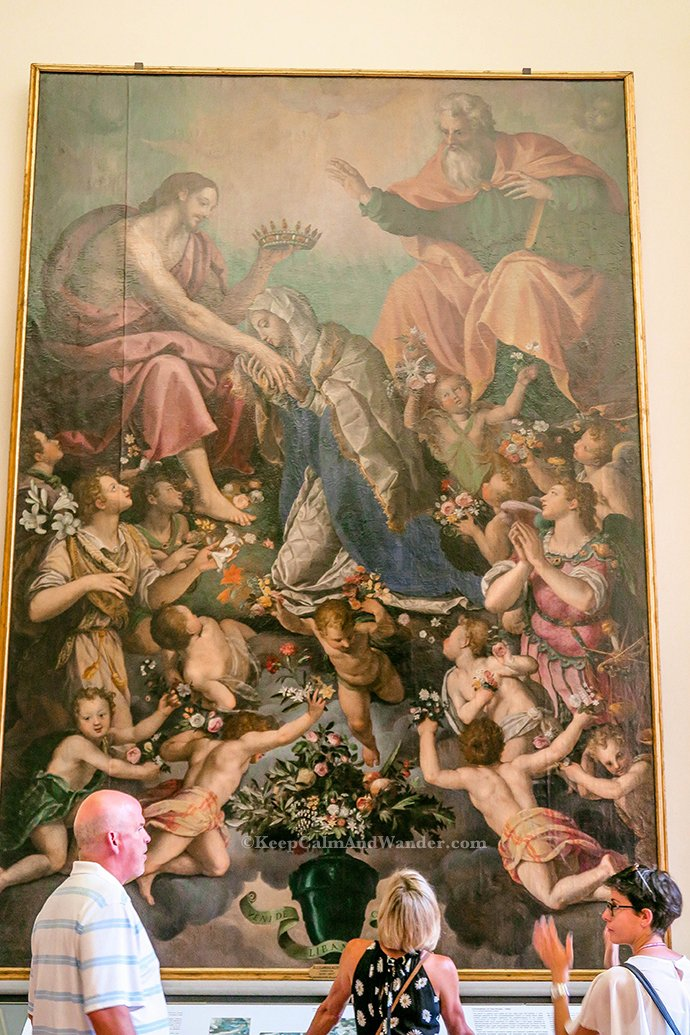 Coronation of the Virgin at Accademia Gallery in Florence (Italy).