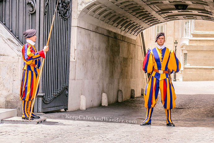 The Vatican Swiss Guards (Rome, Italy).