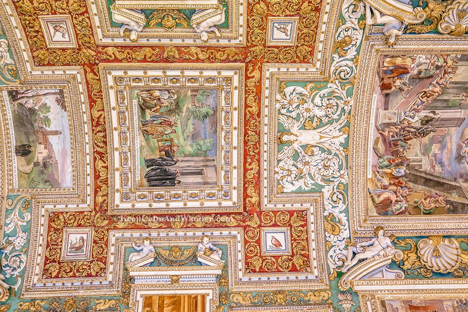 The Hall of Maps at the Vatican Museum (Rome, Italy).