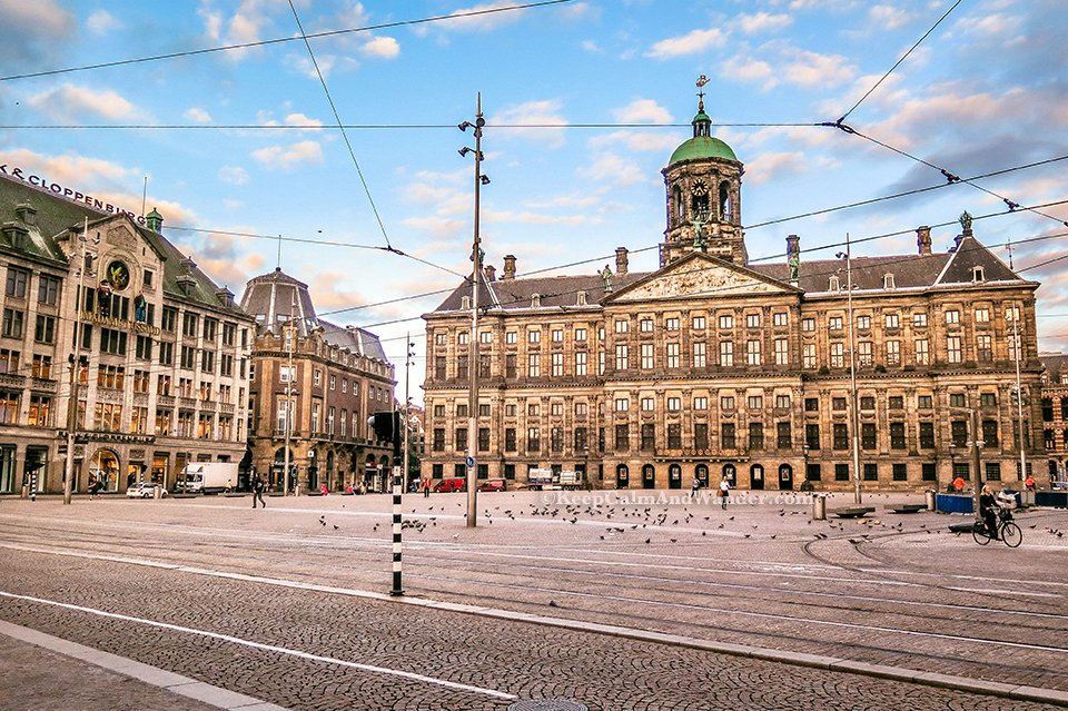 What Amsterdam Looks Like in the Morning. (Netherlands). Dam Square