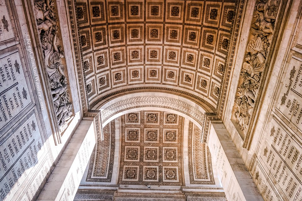 At Arc de Triomphe in Paris, All Twelve Avenues Meet Here (France).