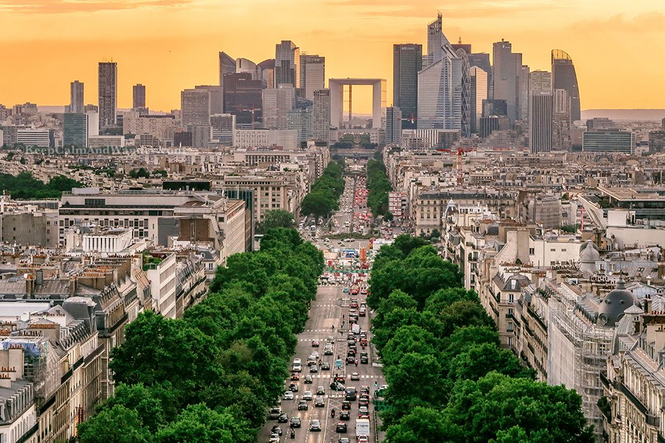 Interesting Facts About Paris and the Views From the Arc de Triomphe (France).