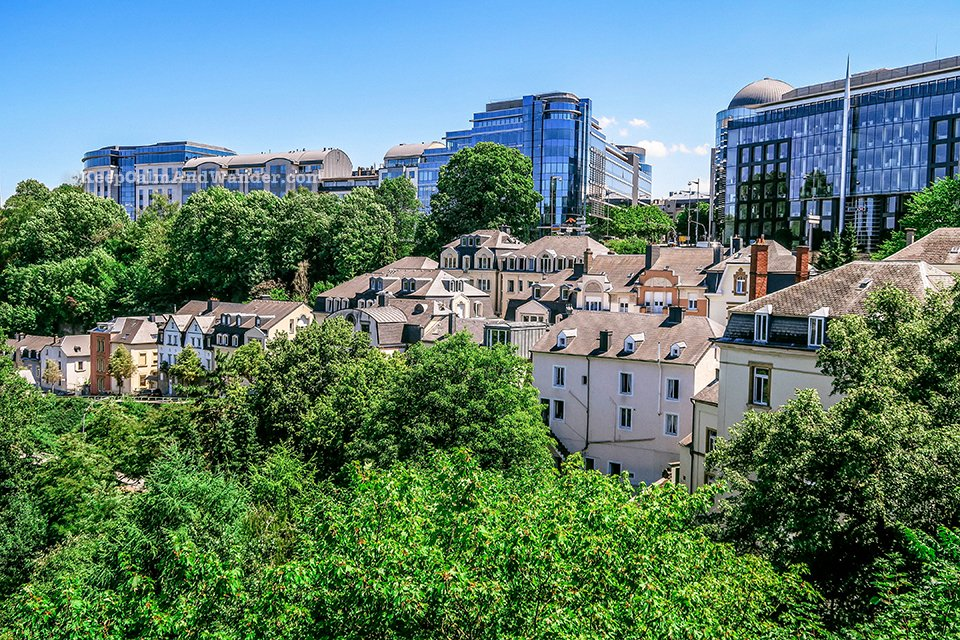 Chemin de la Corniche in Luxembourg is Europe's Most Beautiful Balcony.