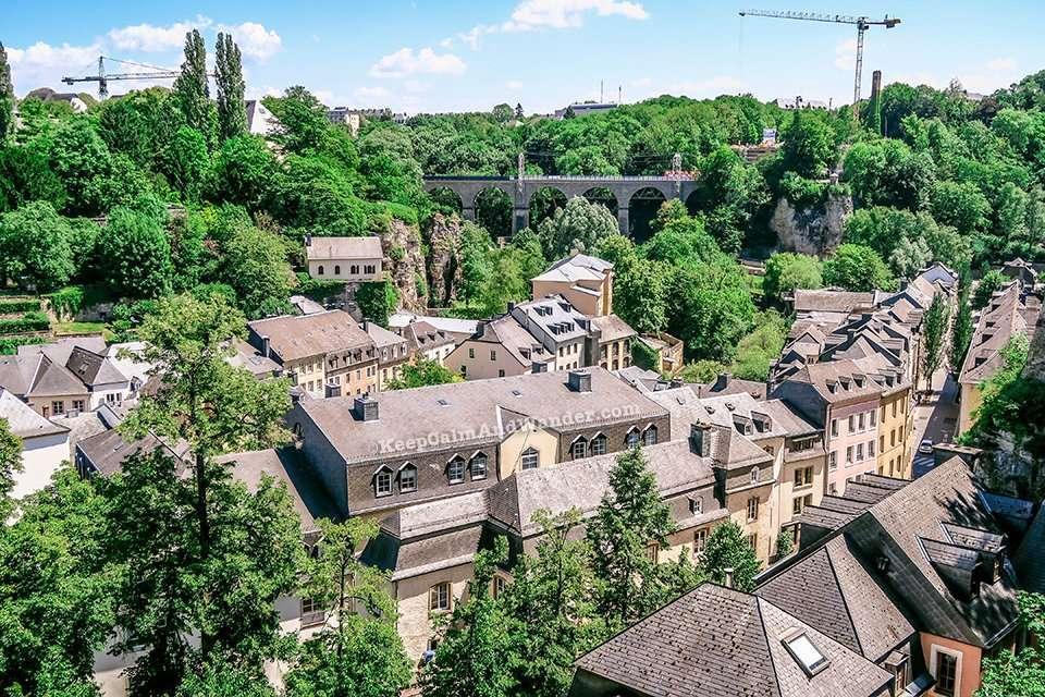 Chemin de la Corniche Promenade in Luxembourg is Europe's Most Beautiful Balcony.