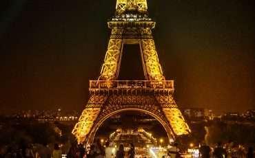Eiffel Tower By Night Paris France 2