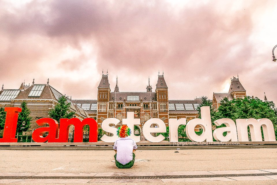 I Had a Photo Op at I Amsterdam Sign Statue and the Sky ...