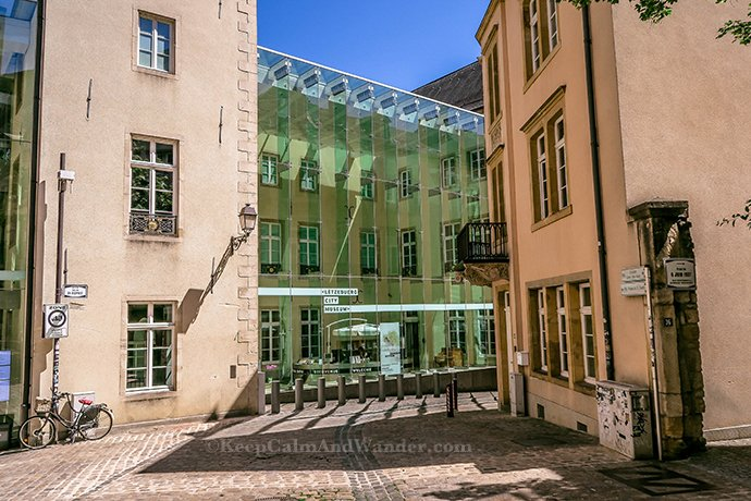 Ancient Meets Modern at Luxembourg City Museum.