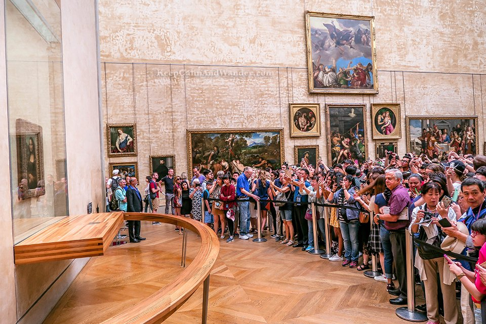 This is the Crowd in Front of Monalisa at Louvre Museum (Paris, France).