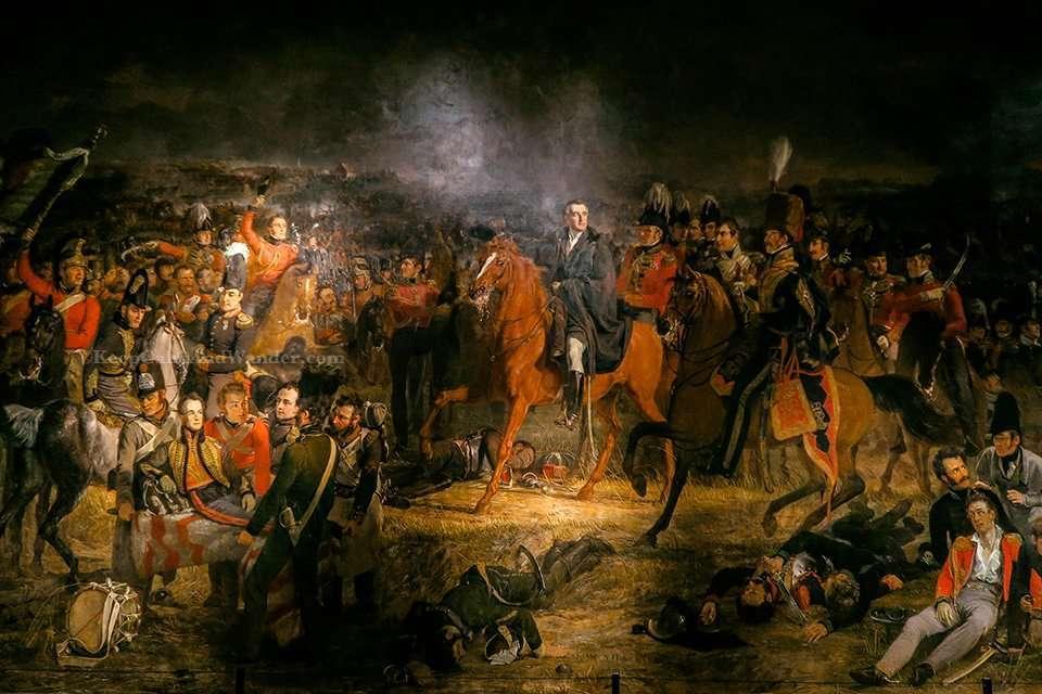 The Battle of Waterloo by Jan Willem Pieneman inside Rijksmuseum in Amsterdam.