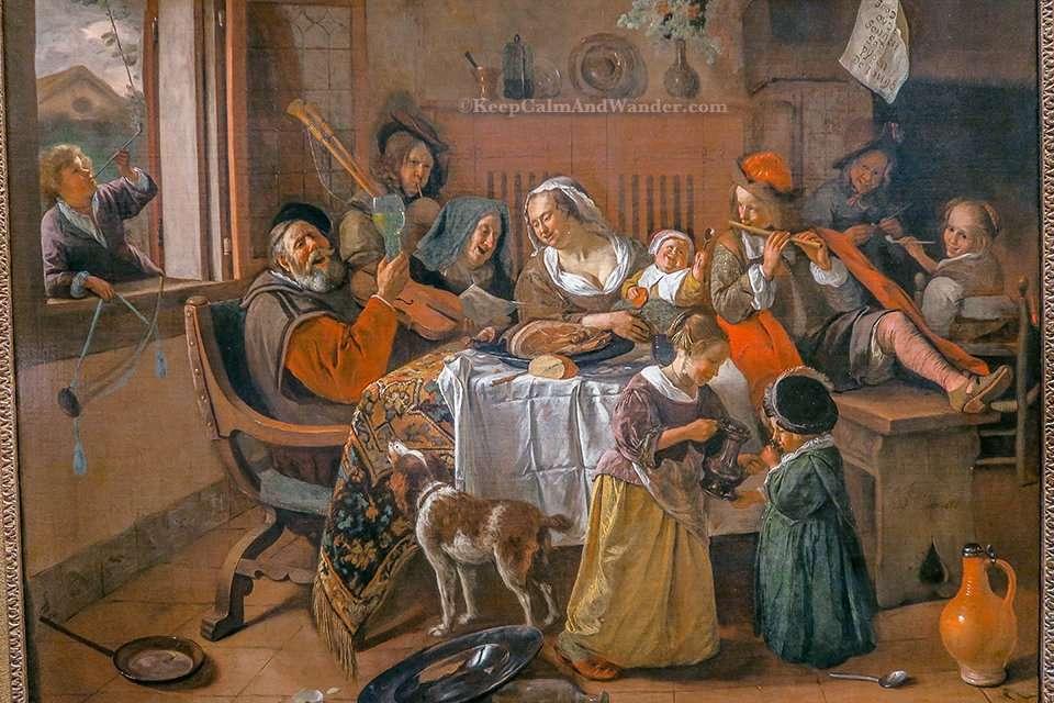 The Merry Family by Jan Havicksz inside RijksMuseum in Amsterdam (Netherlands).