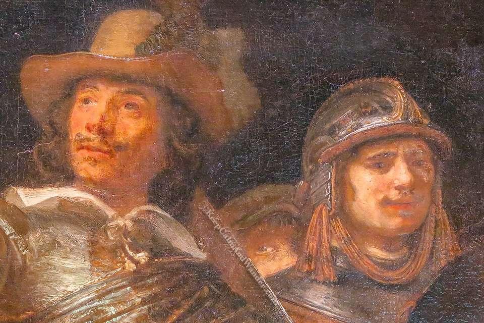 Night Watch by Rembrandt inside Rijksmuseum in Amsterdam (Netherlands).