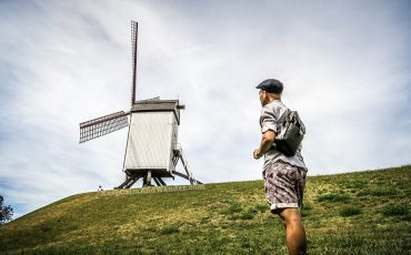 Voormalige Hanze Kwartier Windmills in Bruges Belgium 5