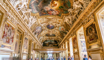 Apollo Gallery is the Most Dazzling Hall at Louvre Museum (Paris, France).