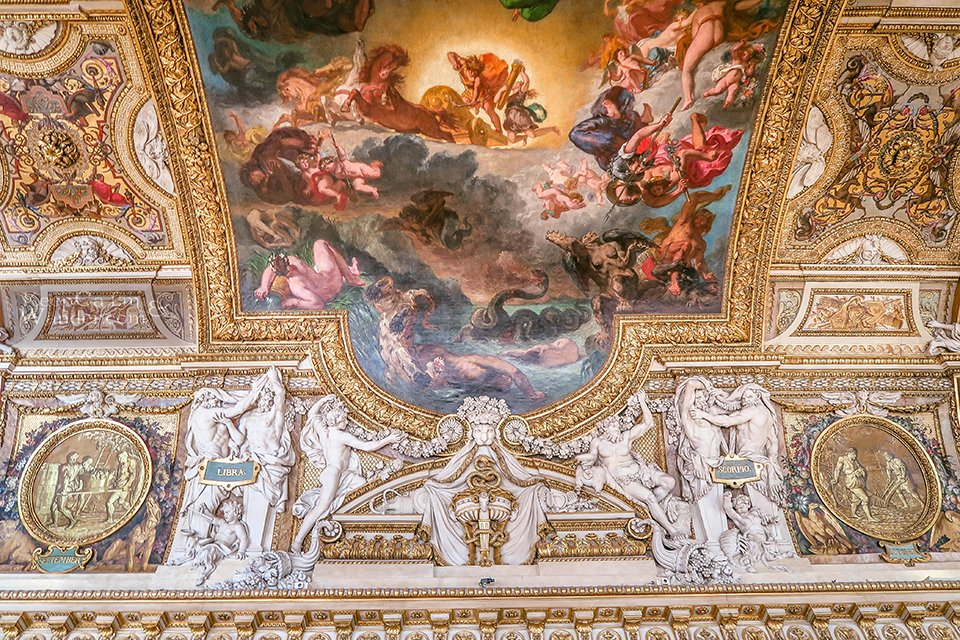 From the walls to ceiling, the museum is covered in wondrous art!  (Paris, France)