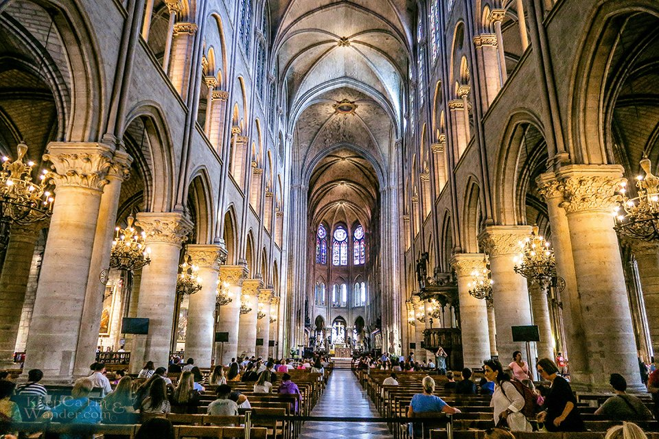 Inside the #NotreDameCathedral in Paris (France).