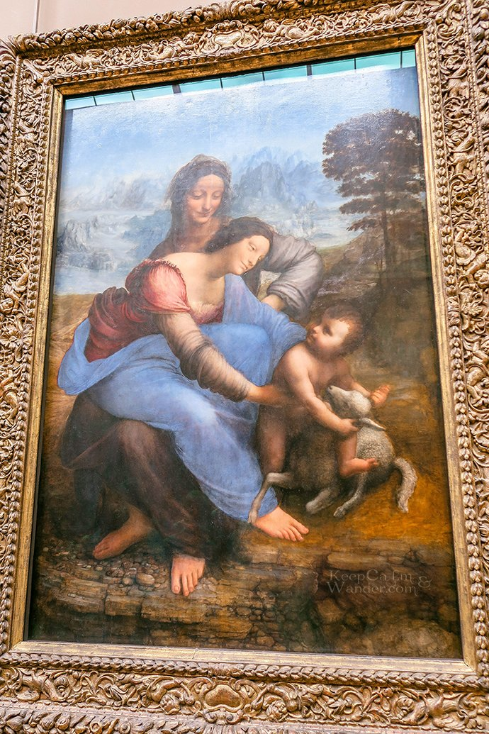 5 Leonardo Da Vinci Paintings Inside the Louvre Museum (Paris, France).