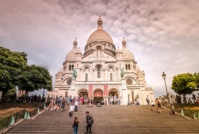 The Basilica of the Sacred Heart of Jesus (Paris, France).