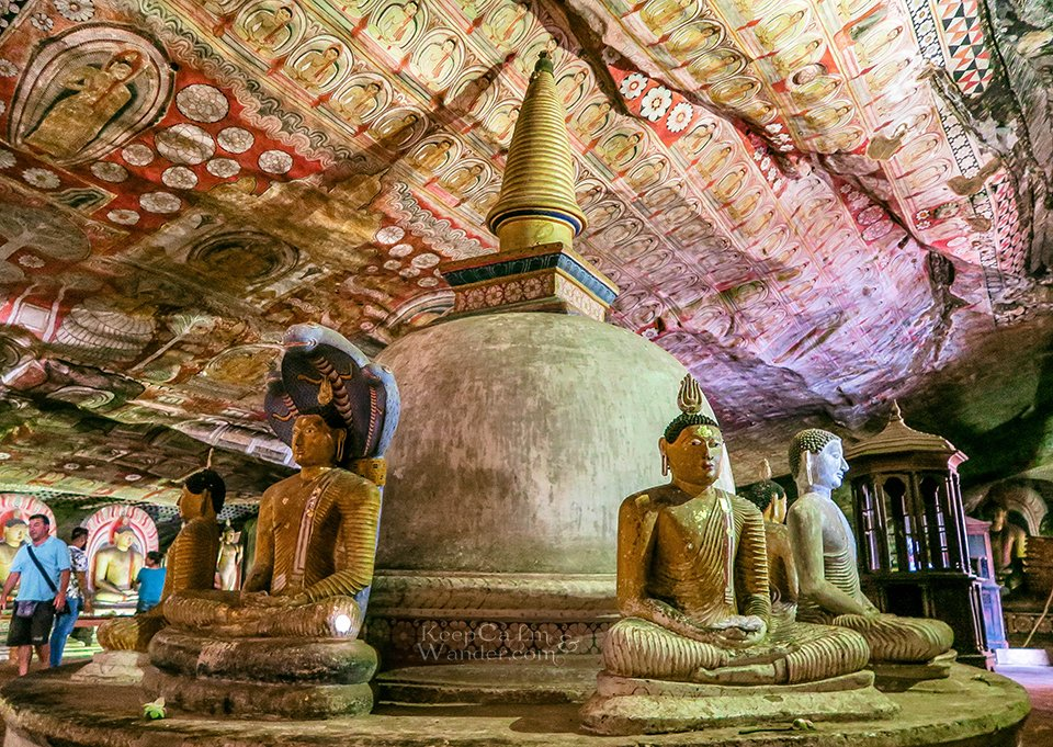 Cave of the Great Kings - Dambulla Cave Temple is The Sistine Chapel of the Buddhism World (Sri Lanka).