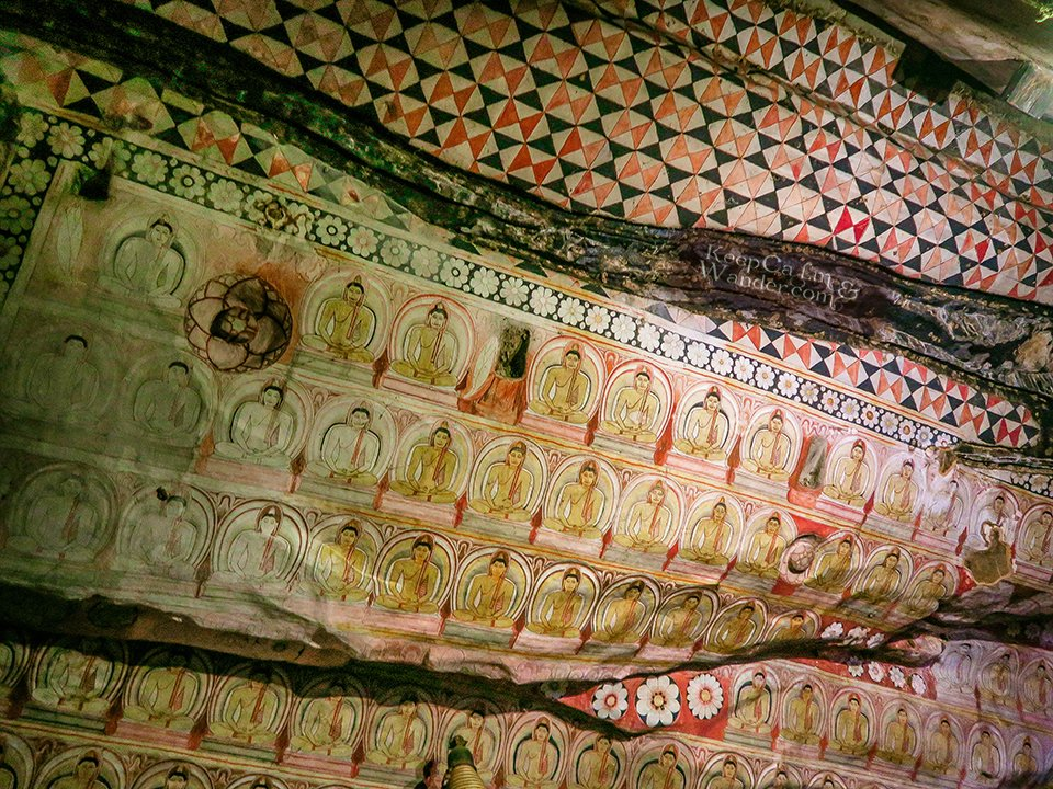 Buddhist Temple in Sigiriya, Sri Lanka.