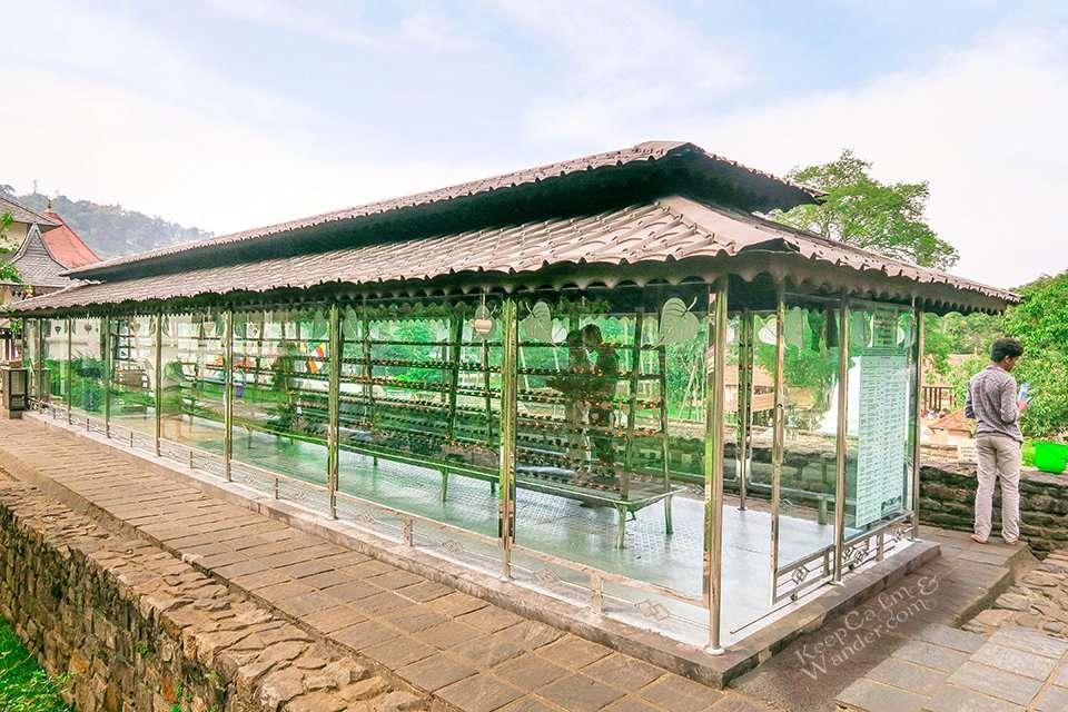 The Prayer Hall - Temple of the Sacred Tooth Relic (Kandy, Sri Lanka).