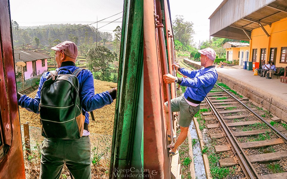 On The Slow Train - The Views From Nuwara Eliya to Ella (From Nanuoya Train Station to Ella - Sri Lanka).