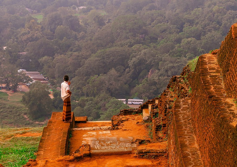 The Summit of Sigiriya Rock (aka Lion Rock) (Sri Lanka).