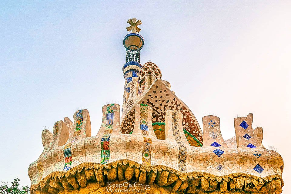 Park Guell in Barcelona is Visually Stunning (Spain).