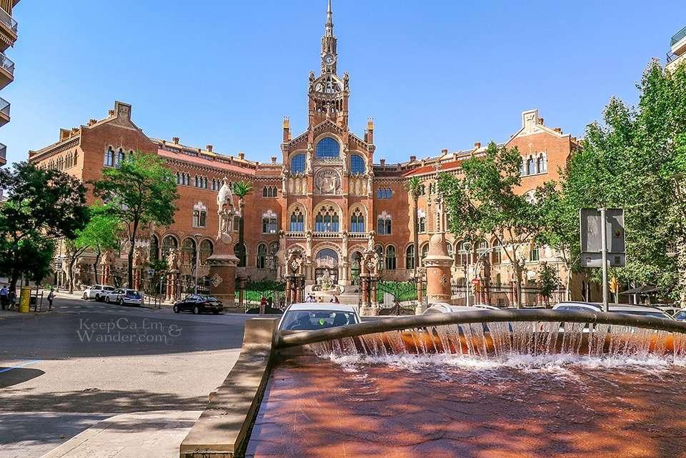 Hospital Sant Pau is Barcelona's Window to Art Nouveau (Barcelona, Spain).