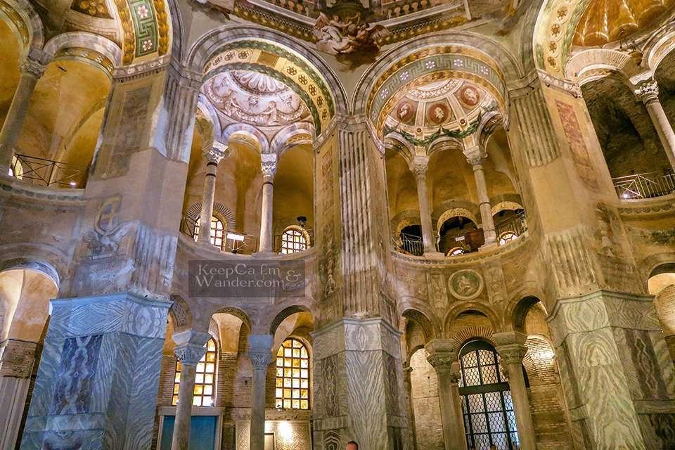The Splendid Mosaics of Basilica di San Vitale in Ravenna (Italy).