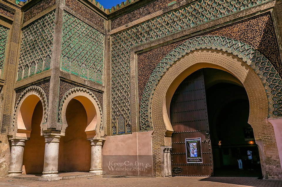 Four Attractions Not to Miss in Meknes (Ban al-Mansour /Morocco).