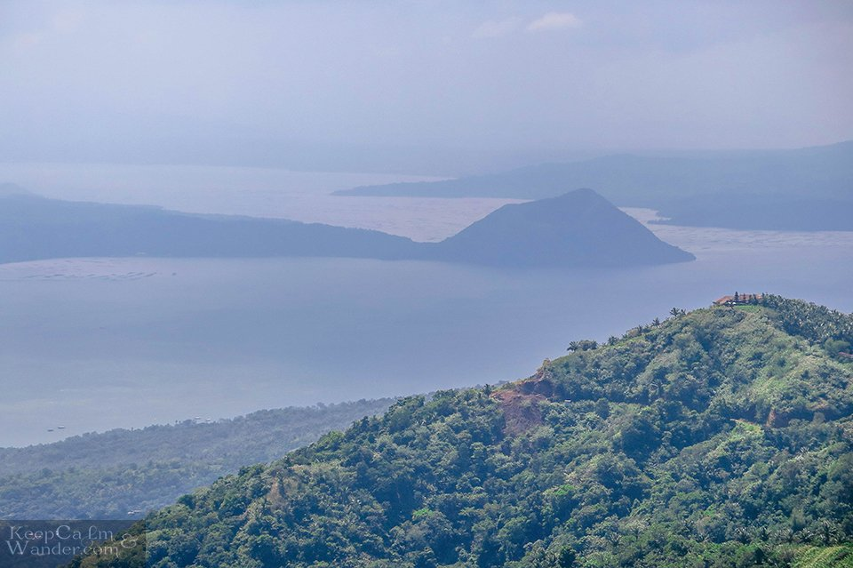 View of Taal Volcano from the Unfinished Marcos Mansion (Tagaytay, Philippines).