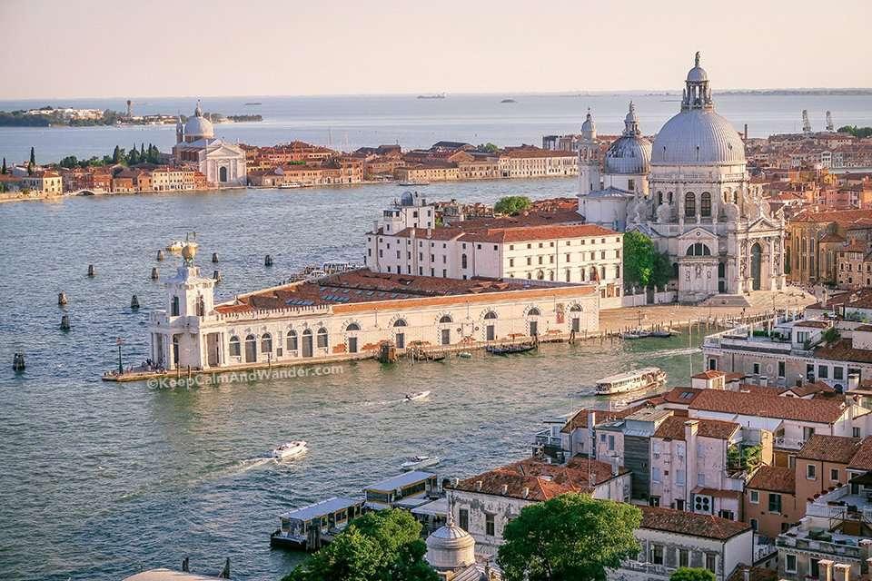 From San Marco Campanile - Santa Maria della Salute - Where 12 Titian Paintings Hang Inside (Venice, Italy).