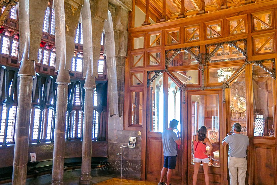 Palau Guell in Barcelona is a Mansion With Splendid Interior (Spain).
