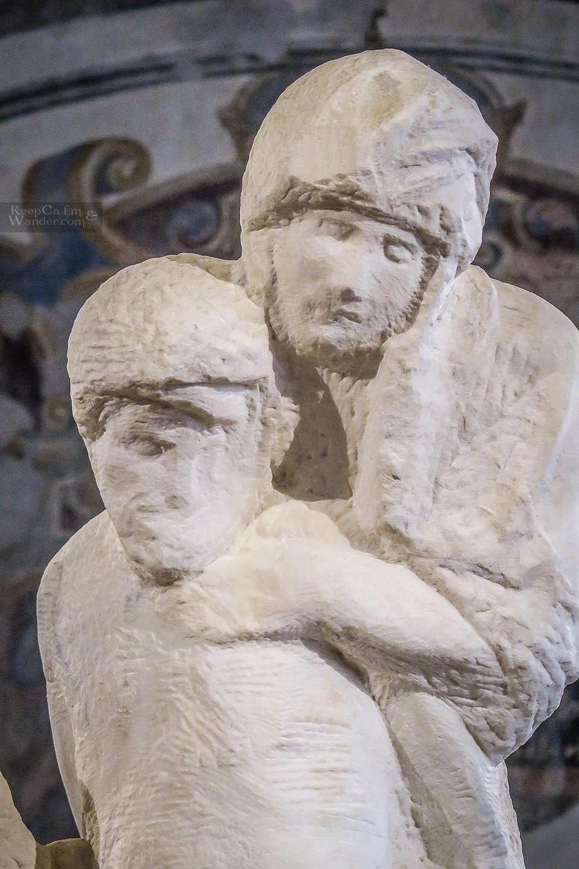 Pieta Rondanini - Michelangelo's Unfinished Statue (Milan, Italy).