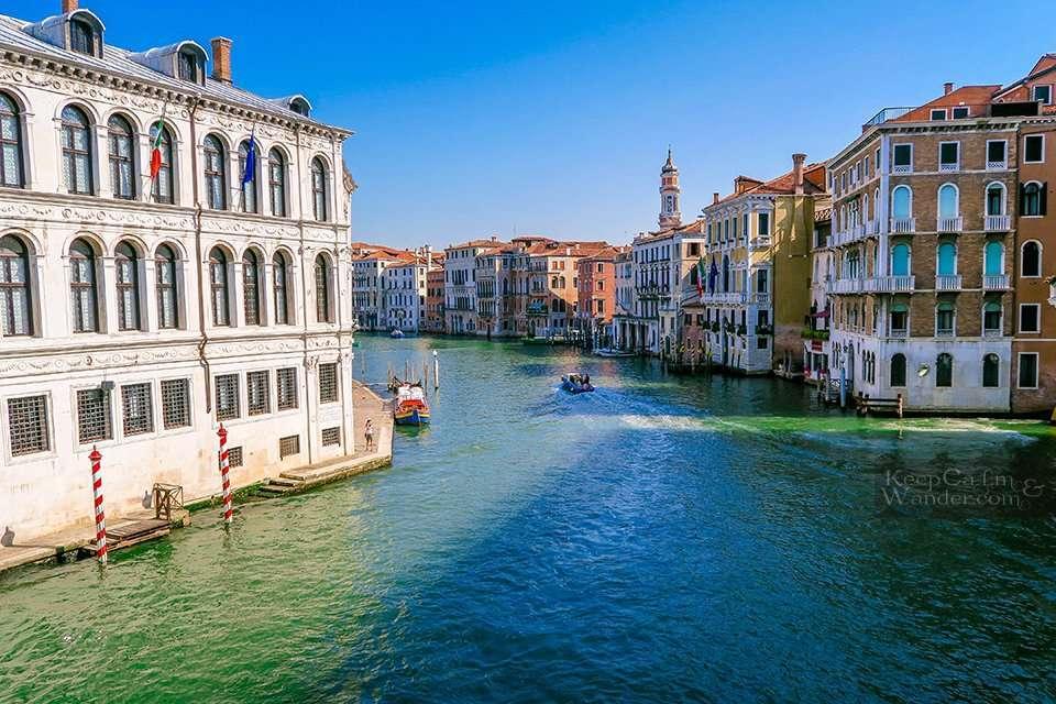 The Views From Realto Bridge - The Oldest Bridge in Venice (Italy).