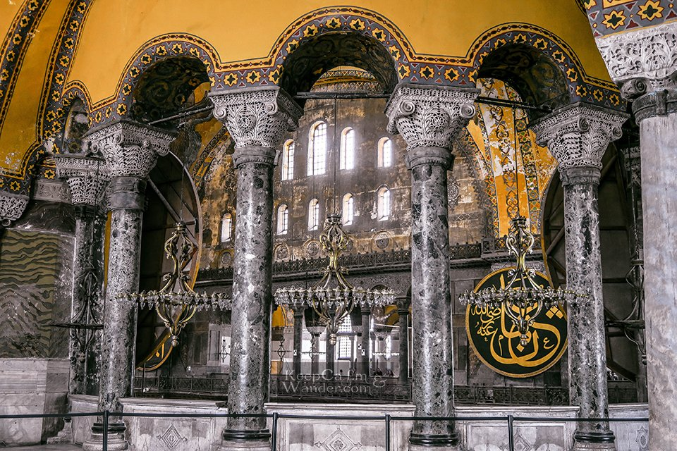 Aya Sophia in Istanbul: a Christian Basilica, a Mosque and a Museum (Turkey).