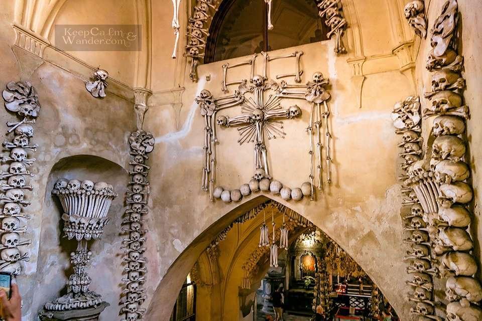 Sedlec Ossuary - The Church With 40,000 Human Bones Inside (Kutna Hora, Czech Republic).