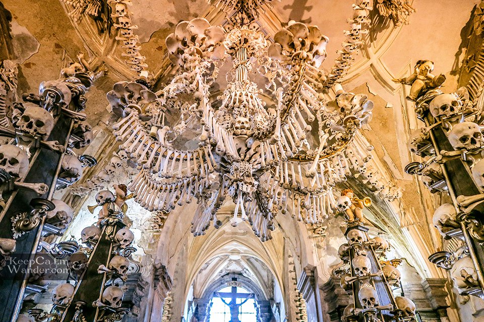 Sedlec Ossuary Kutna Hora - The Church With 40,000 Human Bones Inside (Czech Republic).