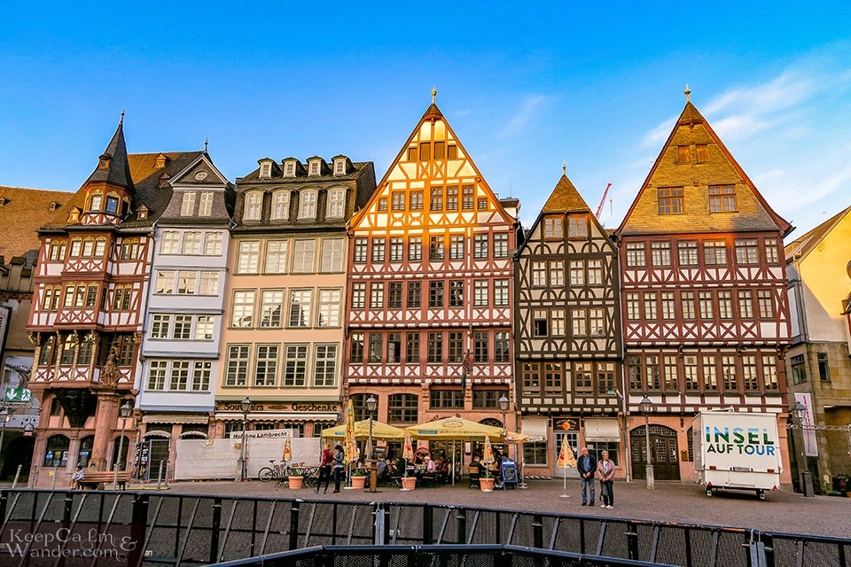 Römerberg is the Most Colourful Square in Frankfurt (Germany).