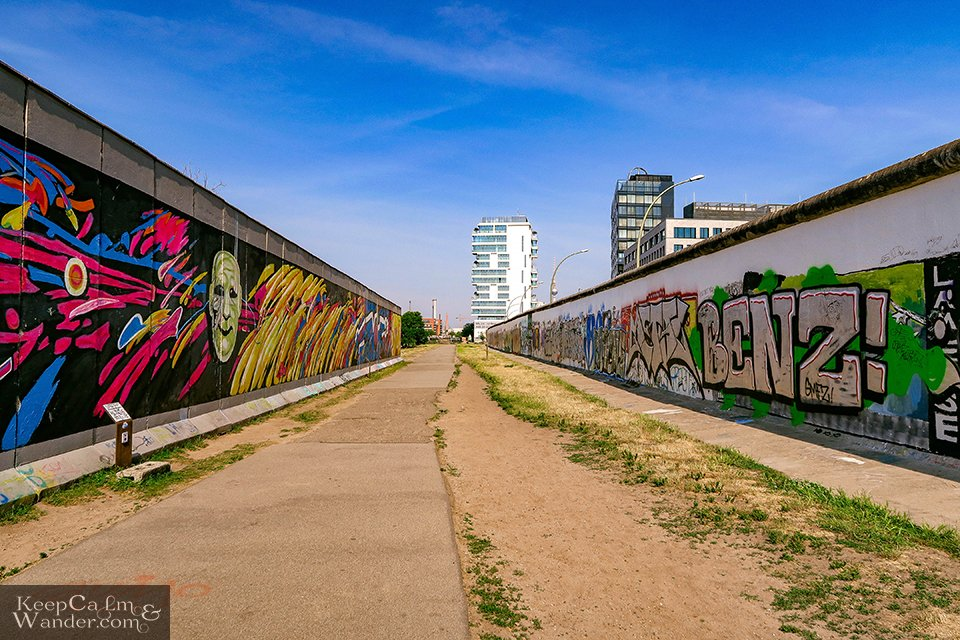 The Murals on the East Side Gallery of the Berlin Wall (Germany).