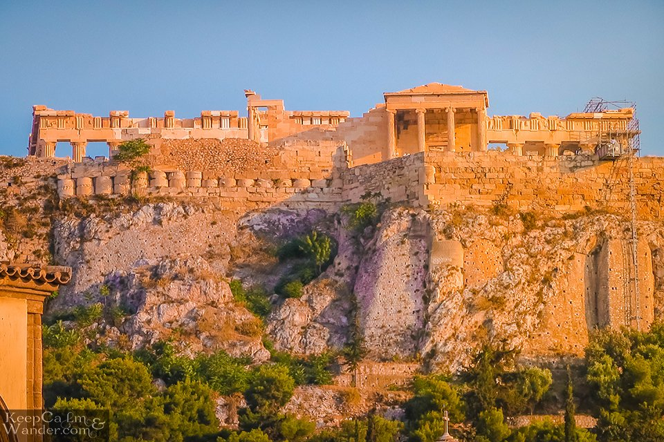 The Ruins of Hadrian Library (Athens, Greece).  Travel Blog Photos