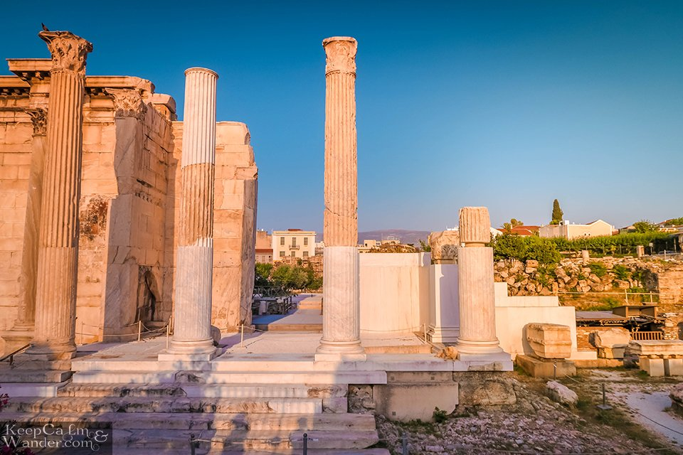 The Ruins of Hadrian Library (Athens, Greece).  Travel Blog Photo