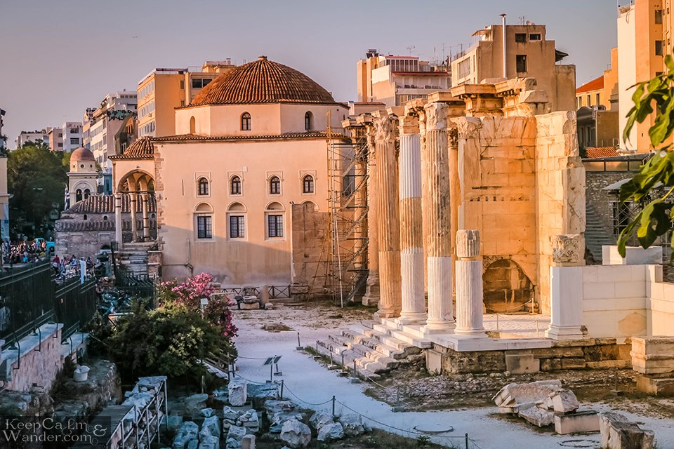 Travel Blog Photo The Ruins of Hadrian Library (Athens, Greece).