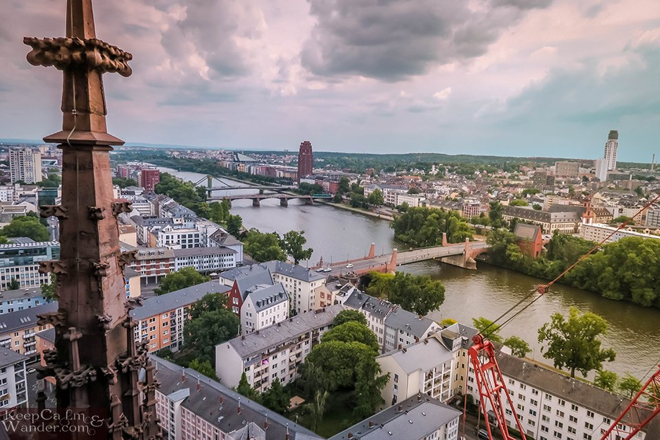 The Views from Kaiserdom (Cathedral Tower) in Frankfurt (Germany). Travel Blog Photo