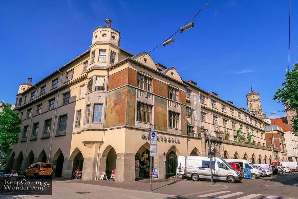 Travel Blog Inside Markthalle (Stuttgart, Germany).