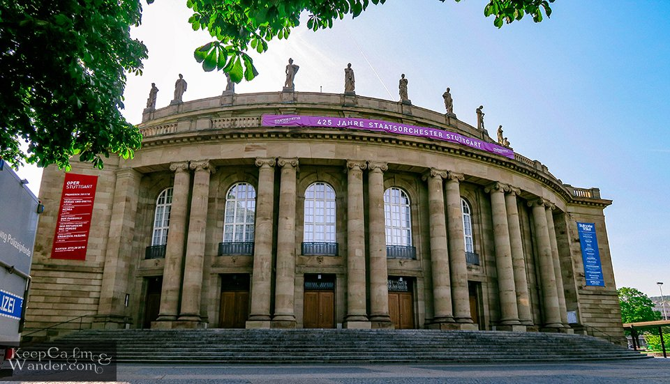 The Stuttgart Opera House (Germany).
